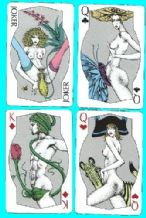 Collectible playing cards Shapely erotic courts